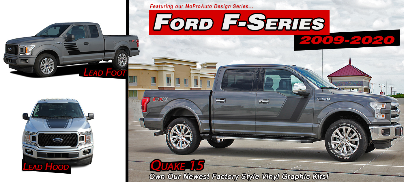 Ford F-150 Stripes, Ford F-150 Decals, Ford F-150 Vinyl Graphics