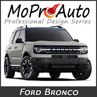 MoProAuto Pro Design Series Vinyl Graphic Decal Stripe Kits for 2021-2022 Ford Bronco