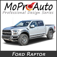 MoProAuto Pro Design Series Vinyl Graphic Decal Stripe Kits for 2019 2020 Ford Raptor Series Model Years