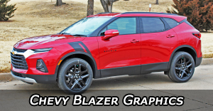 Chevrolet Blazer Stripes, Chevy Blazer Vinyl Graphics, Chevy Blazer Decals and Body Striping Kits