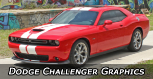 2008-2020 Dodge Challenger Stripes, Challenger Vinyl Graphics, Challenger Hood Decals and Body Stripe Kits