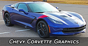 2005-2020 Chevy Corvette Stripes, Corvette Vinyl Graphics, Corvette Decal Stripe Kits