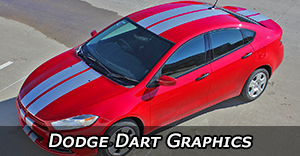 Dodge Dart Stripes, Dart Vinyl Graphics, Dodge Dart Hood Decals, and Body Striping Kits