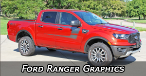 2019, 2020 Ford Ranger Stripes, Ford Ranger Decals, Ford Ranger Truck Vinyl Graphics Kits