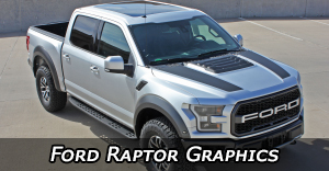 2018, 2019, 2020 Ford Raptor Stripes, Ford Raptor Decals Ford Raptor Truck Vinyl Graphics Kits