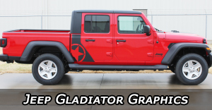 Jeep Gladiator Stripes, Jeep Gladiator Decals, Jeep Gladiator Vinyl Graphics Kits