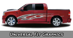 Universal Vinyl Graphics Decal Kits and Body Stripes by Style
