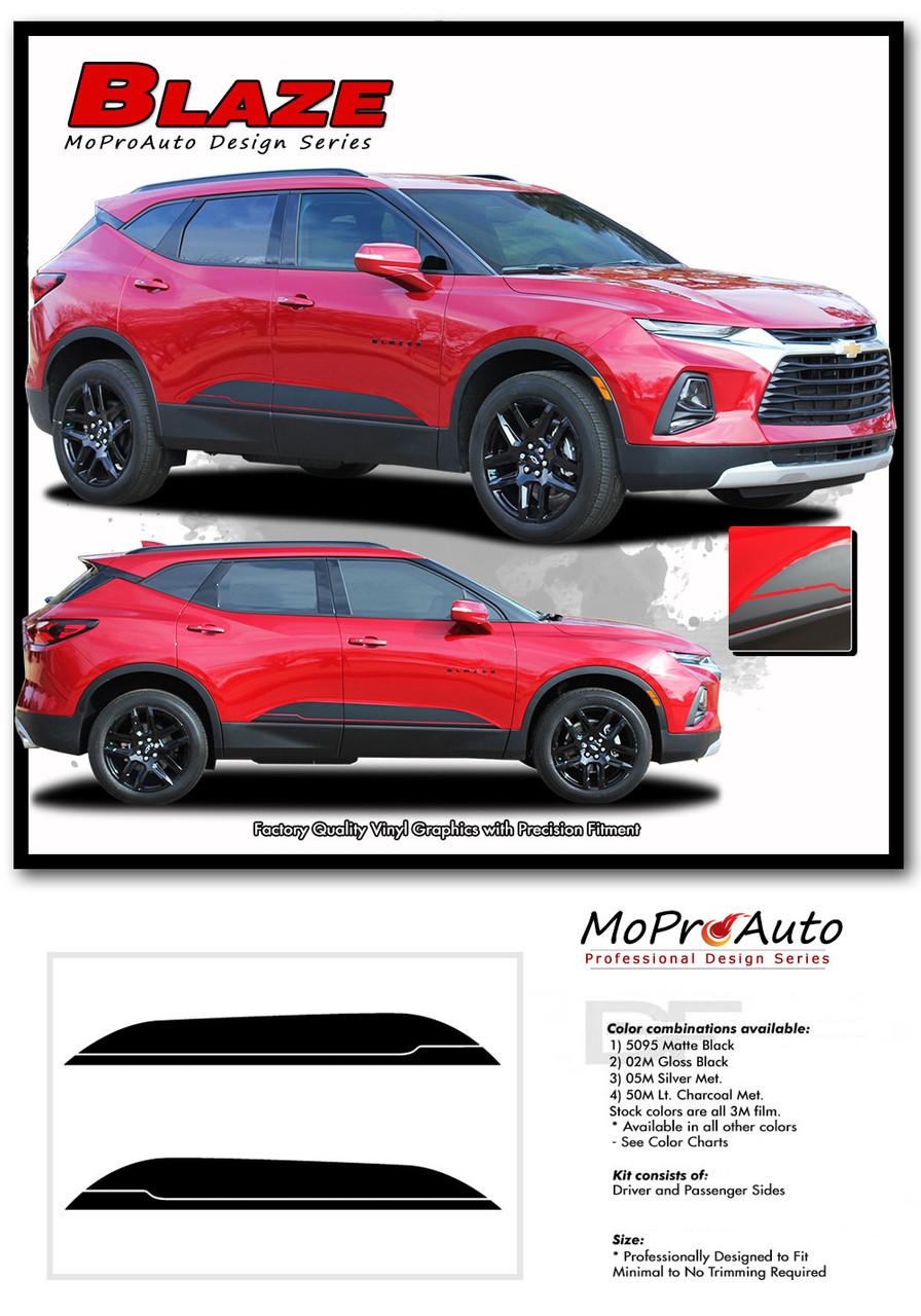 BLAZE, Chevy Blazer Stripes, Chevy Blazer Decals, Chevy Blazer Vinyl Graphic Kits By MoProAuto Pro Design Series