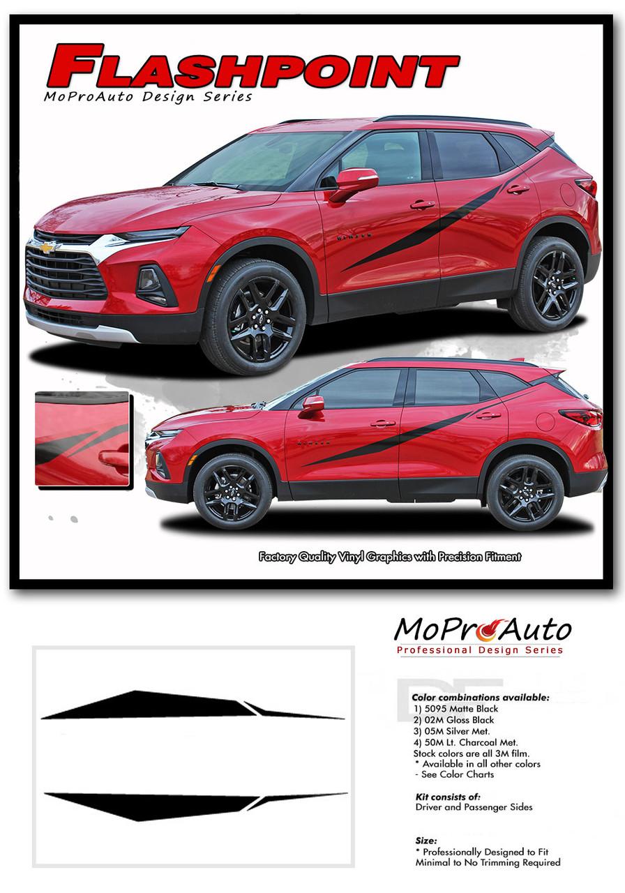 FLASHPOINT, Chevy Blazer Stripes, Chevy Blazer Decals, Chevy Blazer Vinyl Graphic Kits By MoProAuto Pro Design Series