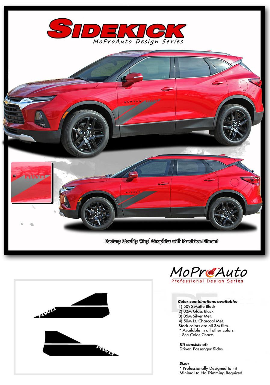 SIDEKICK, Chevy Blazer Stripes, Chevy Blazer Decals, Chevy Blazer Vinyl Graphic Kits By MoProAuto Pro Design Series
