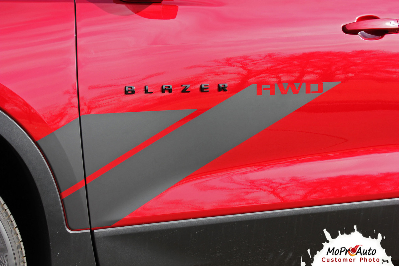 SIDEKICK, 2019, 2020, 2021, Chevy Blazer Vinyl Graphics Package, Blazer Decal Striping Kit | The MoProAuto Original!