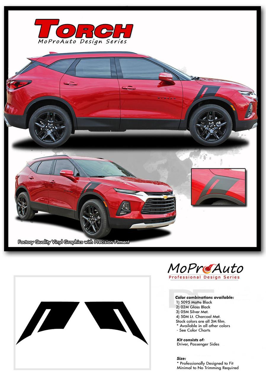 TORCH, Chevy Blazer Stripes, Chevy Blazer Decals, Chevy Blazer Vinyl Graphic Kits By MoProAuto Pro Design Series
