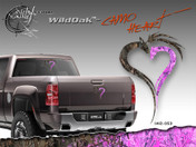 Wild Wood Camouflage : Pink Heart Camo Vinyl Graphic Decal 12 inches
