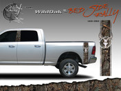 Wild Oak Wild Wood Camouflage : Bed Side Rally with Deer Skull 12 inches x 42 inches