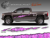 Wild Oak Pink Wild Wood Camouflage : TRACER Body Side Vinyl Graphic 9 inches x 96 inches
