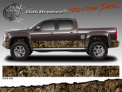 Wild Wood Camouflage : Lower Rocker Panel Graphics Kit 12 inch x 12 foot per side