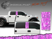 Wild Oak Pink Wild Wood Camouflage : Pillar Post Decal Vinyl Graphic 22 inches x 12 inches