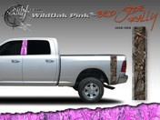 Wild Oak Pink Wild Wood Camouflage : Bed Side Rally with Logo 12 inches x 42 inches