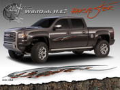 Wild Oak Hunter Edition Wild Wood Camouflage : HARVESTER Body Side Vinyl Graphic 9 inches x 96 inches