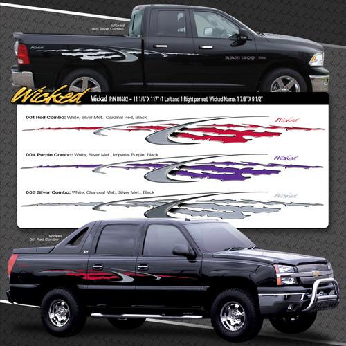 WICKED : Automotive Vinyl Graphics Shown on Dodge Ram (M-08492)
