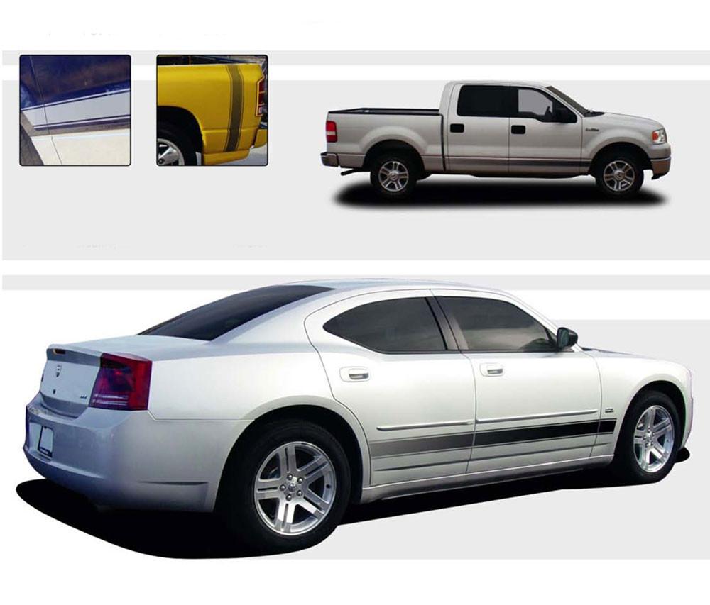 2005-2019 Dodge Ram Lower Rocker Panel Door Stripes Vinyl Graph ROCKER STROBES