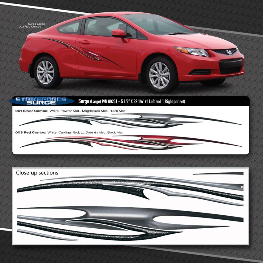 Surge Automotive Vinyl Graphics Shown On Honda Civic Moproauto