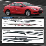 SURGE : Automotive Vinyl Graphics Shown on Honda Civic (M-09251)