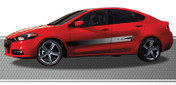STRIKE : Automotive Vinyl Graphics and Decals Kit - Shown on FOUR DOOR CAR (M-877)