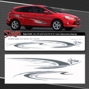 STINGER : Automotive Vinyl Graphics Shown on Ford Focus (M-08786)
