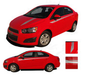 SWEEP : Chevy Sonic 2012 2013 2014 2015 2016 Vinyl Graphics and Decals - * NEW * Chevy Sonic Vinyl Decals Package for the 2012-2016 Models! A fantastic upgrade option for your vehicle, using only Premium Cast 3M, Avery, or Ritrama Vinyl!