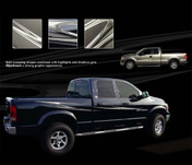 SLIPSTREAM : Universal Vinyl Graphics Kit - Fantastic Universal Style Vinyl Graphics Package for your full size truck! Perfect for the Dodge Ram Series! Pre-cut pieces ready to install. A fantastic addition to your vehicle, using only Premium Cast 3M, Avery, or Ritrama Vinyl!