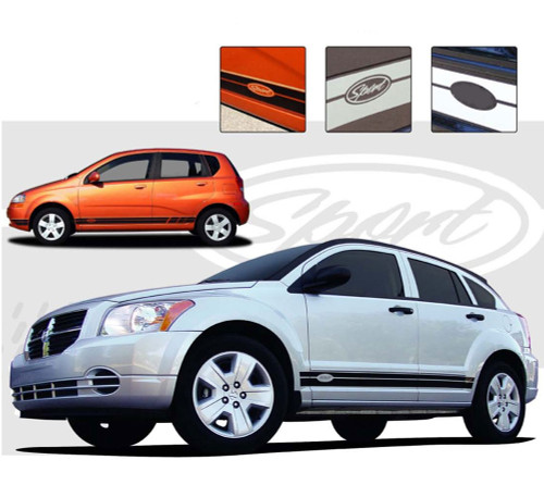 STOCK ROCKER : Universal Vinyl Rocker Panel Graphics Kit - Vinyl Graphics Rocker Panel Stripes for a Variety of Vehicles! Pre-cut pieces ready to install. A fantastic addition to your vehicle, using only Premium Cast 3M, Avery, or Ritrama Vinyl! Inludes 15 FREE sets of decals!