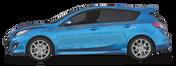 SHOCKER : Automotive Vinyl Graphics Shown on Compact Hatchback Car (M-08100)