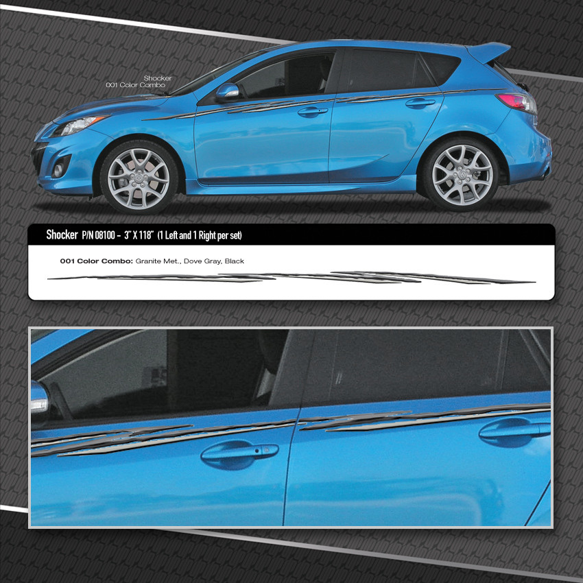 Small Hatchback Turbo Cars: SHOCKER : Automotive Vinyl Graphics Shown On Compact