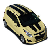 SPARK RALLY : Chevy Spark 2013 2014 Vinyl Graphics Stripe Decal Kit - * NEW * Chevy Spark Vinyl Graphics Stripe Decals Package for the 2013-2014 Models! A fantastic upgrade option for your vehicle, using only Premium 3M, Avery, or Ritrama Vinyl!