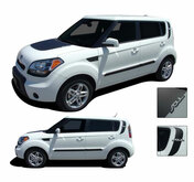 SOUL PATCH : Vinyl Graphics Kit Engineered to fit the 2010 2011 2012 2013 Kia Soul - Vinyl Graphics Kit, specially engineered to fit the 2010 - 2013 KIA Soul! Hood graphic and rear panel graphics, it's the look you've been wanting for the Kia Soul!