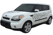 "SOUL CAT : ""Factory Style"" Vinyl Graphics Kit for 2010 2011 2012 2013 Kia Soul - ""Factory Style"" Vinyl Graphics Kit, specially engineered to fit the 2010 - 2013 KIA Soul! Factory look without the factory price, with the same quality vinyl!"