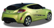 REACTOR : Automotive Vinyl Graphics and Decals Kit - Shown on TWO DOOR HATCHBACK (M-912)