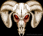 RAM SKULL : High Definition Automotive Vinyl Graphics Perfect for Dodge Ram 1500 (M-RMS)