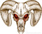 RAM SKULL : High Definition Automotive Vinyl Graphics Perfect for Dodge Ram 1500 (M-RMS)