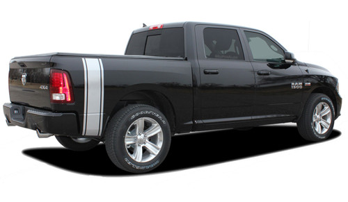 "RAM RUMBLE STRIPES : 2009 2010 2011 2012 2014 2015 2016 2017 2018 Dodge Ram Bed Stripes Vinyl Graphics Kit! NEW! 2009-2016 2017 2018 Dodge Ram Rumble : Bed Stripes Vinyl Graphics Kit! Engineered specifically for the new Dodge Ram body styles, this kit will give you a factory ""MoPar OEM Style"" upgrade look at a discount price! Ready to install!"