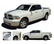 POWER RAM : 2009 2010 2011 2012 2013 2014 2015 2016 2017 2018 Dodge Ram or Dakota Vinyl Graphics Kit. Dodge POWER RAM Graphics Kit! Engineered specifically for the New Dodge Ram body styles, this kit will give you a factory OEM upgrade look at a discount price! Hood and Side Pieces included! Pre-Cut pieces ready to install!
