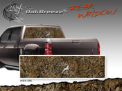 "Oak Breeze Wild Wood Camouflage : Rear Window ""See Through"" Film Graphic Kit 24 inches x 65 inches"