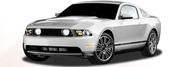 MUSTANG OE MUSCLE : 2005-2013 Factory OEM Style Pony Rocker Stripes Kit (M-1196)