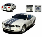 "Mustang WILDSTANG S-V61 : Lemans GT500 Style Vinyl Racing Stripe Kit for 2005-2009 Ford Mustang V6 - Complete Factory ""OEM"" Style Vinyl Racing and Rally Stripes Kit for the 2005-2009 Ford Mustang V6! Pre-cut pieces ready to install. A fantastic addition to your vehicle, using only Premium Cast 3M, Avery, or Ritrama Vinyl!"