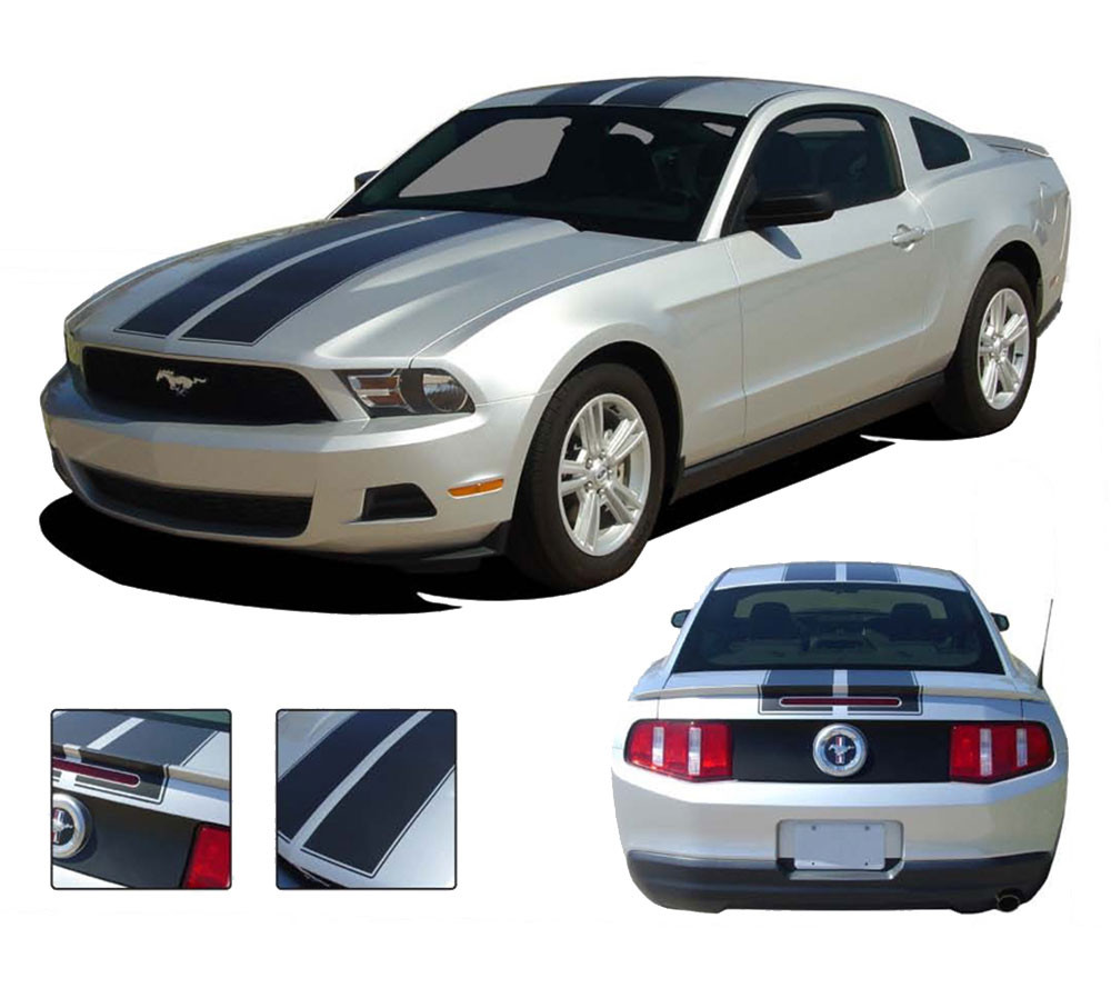 Ford Mustang 2010-2012 Pre-cut Factory Style Over-The-Top Stripes Choose Color