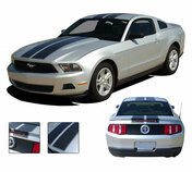 * NEW Racing and Rally Stripes Kits for the 2010-2012 Ford Mustang! Give a modern muscle car look to your new Mustang and set your ride apart! All Hood, Roof, Deck Lid Stripes included, along with optional spoiler stripes! Pre-cut pieces ready to install. A fantastic addition to your vehicle, using only Premium Cast 3M, Avery, or Ritrama Vinyl!
