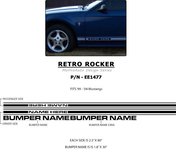"Mustang RETRO ROCKER : ""OEM"" Style 1999-2004 Ford Mustang Rocker Panel Stripes - * NEW ""OEM"" Style Retro Rocker Panel Vinyl Graphics Set, for the 1999 - 2004 Ford Mustang. Using only Premium Cast 3M, Avery, or Ritrama Vinyl! Check out what is included with this kit . . ."