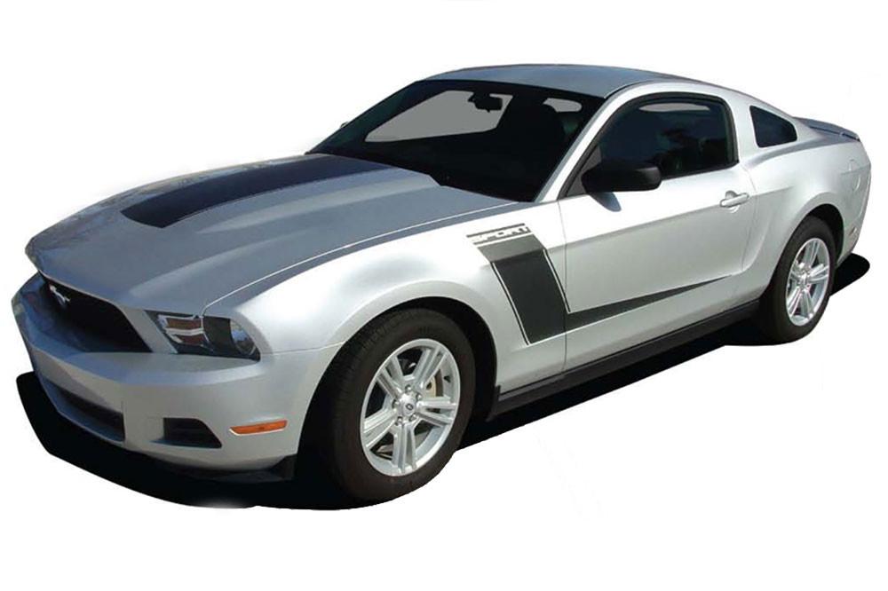 Mustang C Stripe Boss Side 3M Pro Grade Vinyl Decals Graphics 2010-2012 Mustang