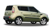 INSTIGATOR : Automotive Vinyl Graphics and Decals Kit - Shown on KIA SOUL